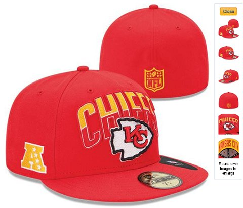 2013 Kansas City Chiefs NFL Draft 59FIFTY Fitted Hat 60D15