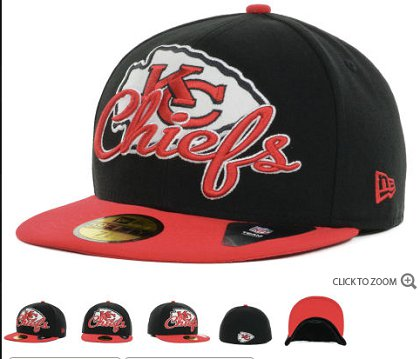Kansas City Chiefs New Era Script Down 59FIFTY Hat 60d13
