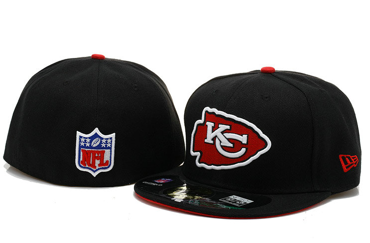 Kansas City Chiefs Black Fitted Hat 60D 0721