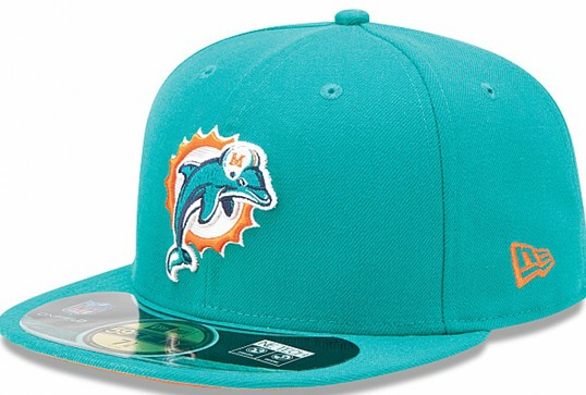 Miami Dolphins NFL Sideline Fitted Hat SF13
