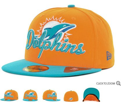 Miami Dolphins New Era Script Down 59FIFTY Hat 60d15