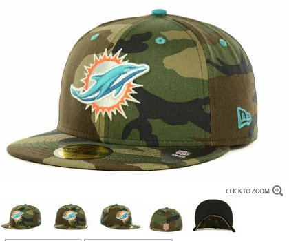 Miami Dolphins NFL Fitted Hat 60d