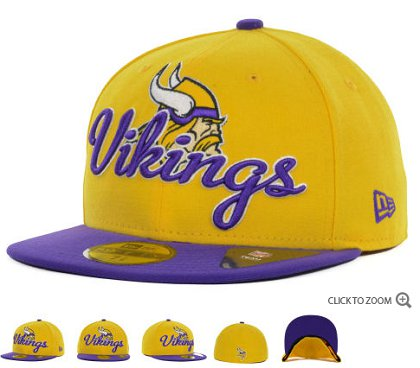 Minnesota Vikings New Era Script Down 59FIFTY Hat 60d01