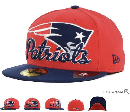 New England Patriots New Era Script Down 59FIFTY Hat 60d16