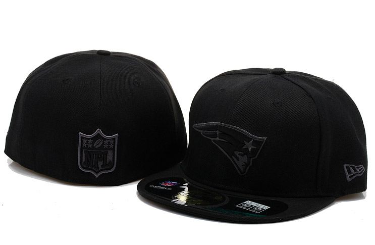 New England Patriots Black Fitted Hat 60D 0721