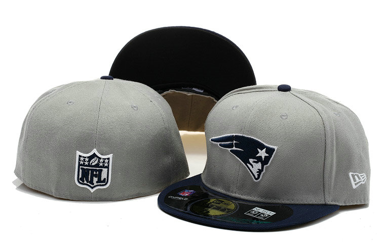New England Patriots Grey Fitted Hat 60D 0721