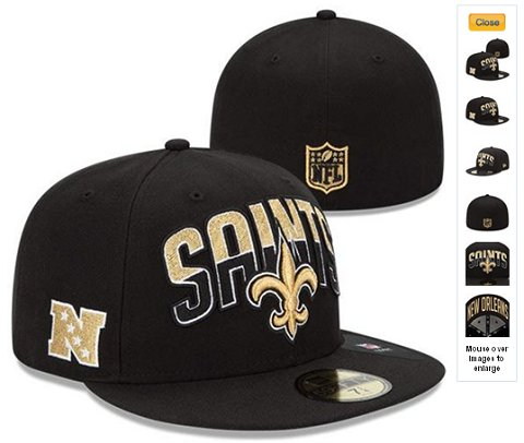 2013 New Orleans Saints NFL Draft 59FIFTY Fitted Hat 60D20