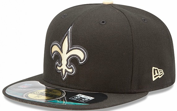 New Orleans Saints NFL Sideline Fitted Hat SF03