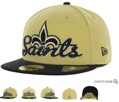 New Orleans Saints New Era Script Down 59FIFTY Hat 60d17
