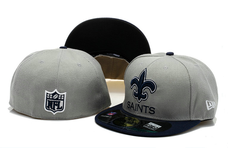 New Orleans Saints Grey Fitted Hat 60D 0721