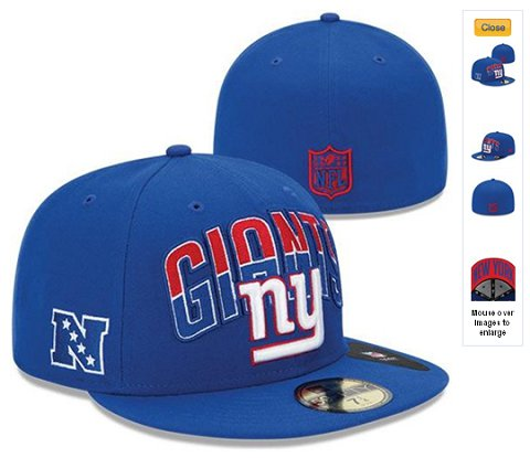2013 New York Giants NFL Draft 59FIFTY Fitted Hat 60D04