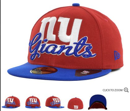 New York Giants New Era Script Down 59FIFTY Hat 60d18