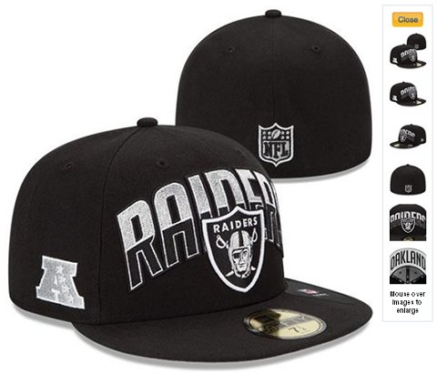 2013 Oakland Raiders NFL Draft 59FIFTY Fitted Hat 60D24