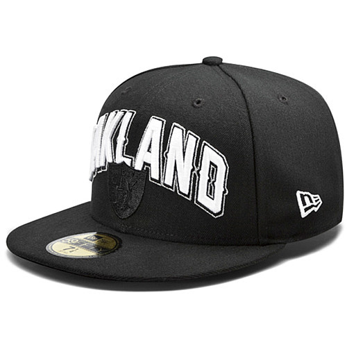 Oakland Raiders NFL DRAFT FITTED Hat SF10