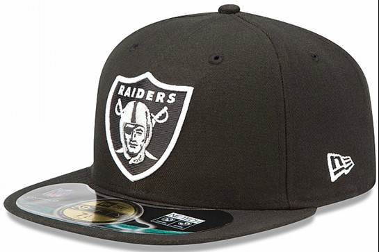 Oakland Raiders NFL Sideline Fitted Hat SF02