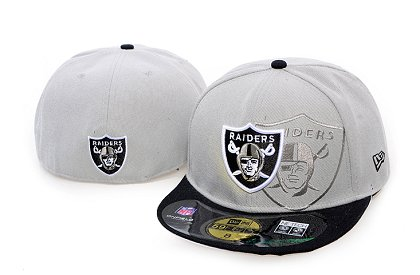 Oakland Raiders Screening 59FIFTY Fitted Hat 60d203