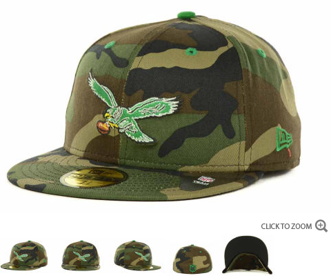 Philadelphia Eagles NFL Fitted Camo Hat 60D 4