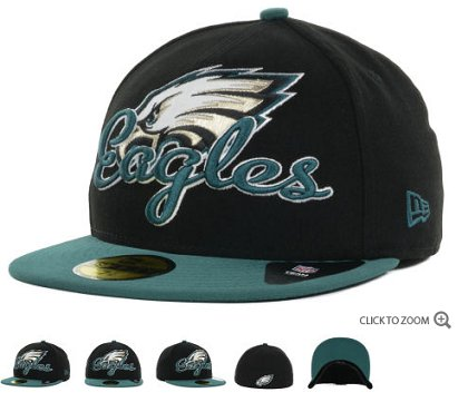 Philadelphia Eagles New Era Script Down 59FIFTY Hat 60d20