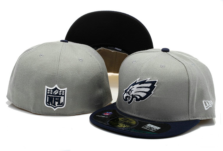Philadelphia Eagles Grey Fitted Hat 60D 0721