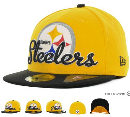 Pittsburgh Steelers New Era Script Down 59FIFTY Hat 60d21