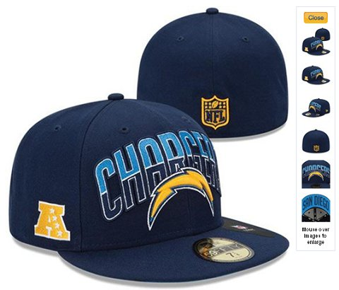 2013 San Diego Chargers NFL Draft 59FIFTY Fitted Hat 60D29