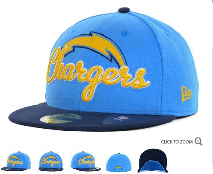 San Diego Chargers New Era Script Down 59FIFTY Hat 60d22