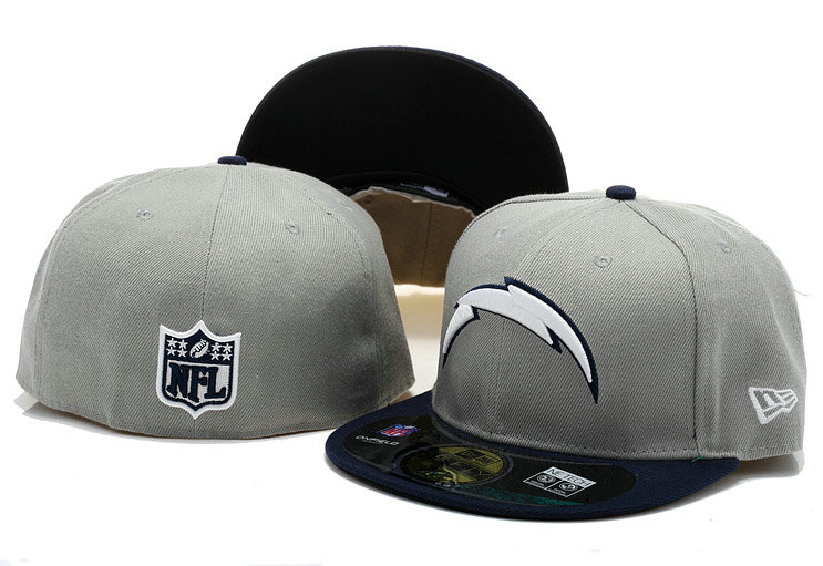 San Diego Chargers Grey Fitted Hat 60D 0721
