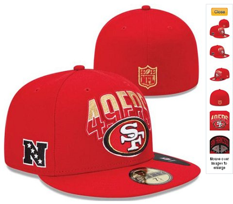 2013 San Francisco 49ers NFL Draft 59FIFTY Fitted Hat 60D16