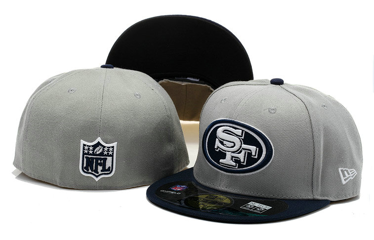 San Francisco 49ers Grey Fitted Hat 60D 0721