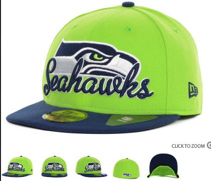 Seattle Seahawks New Era Script Down 59FIFTY Hat 60d24