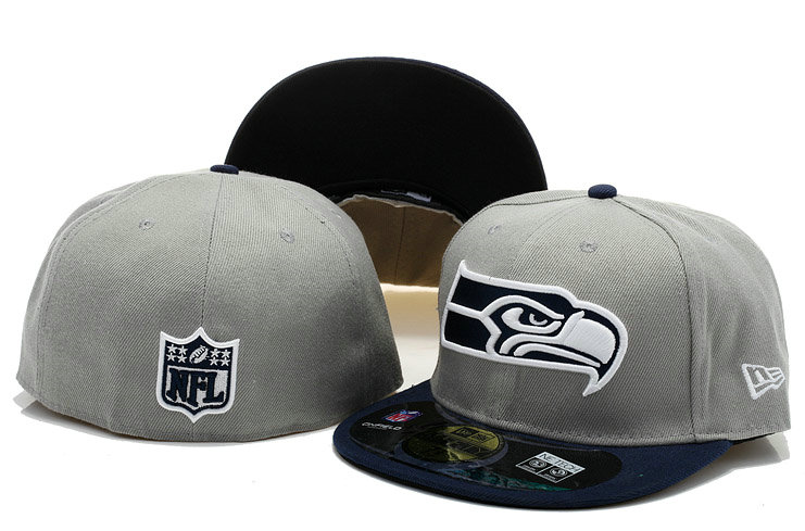 Seattle Seahawks Grey Fitted Hat 60D 0721