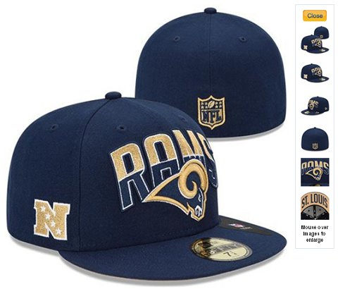 2013 St. Louis Rams NFL Draft 59FIFTY Fitted Hat 60D27