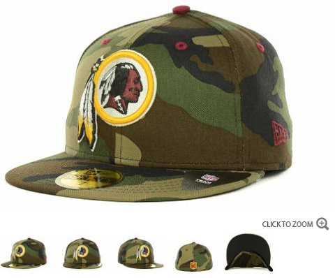 Washington Redskins New Era NFL Camo Pop 59FIFTY Hat 60D7
