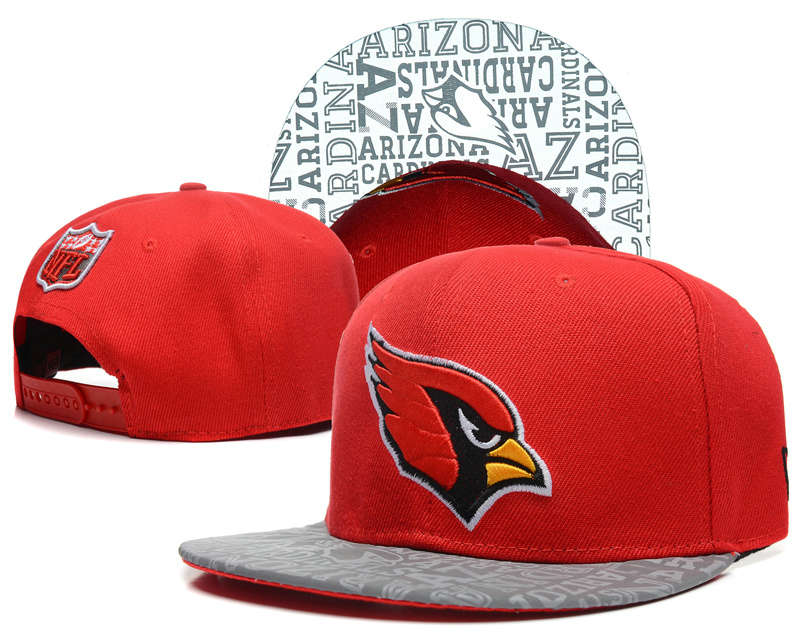 Arizona Cardinals 2014 Draft Reflective Red Snapback Hat SD 0613