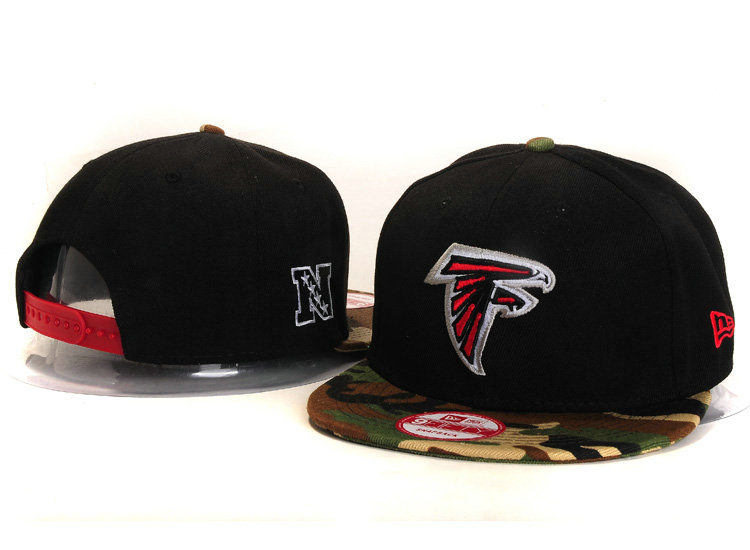Atlanta Falcons Black Snapback Hat YS