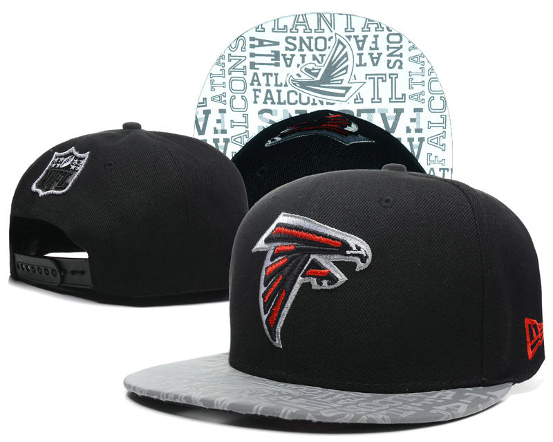 Atlanta Falcons 2014 Draft Reflective Black Snapback Hat SD 0613