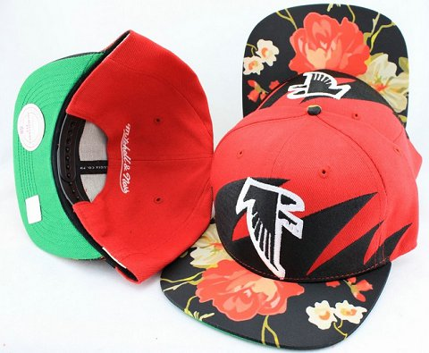 Atlanta Falcons Flower Bill Snapback Hat JT15