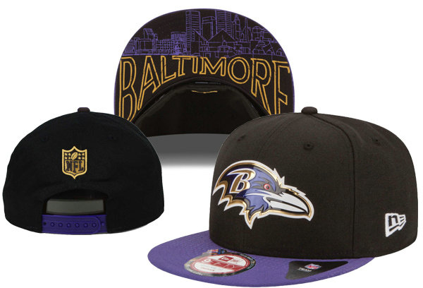 Baltimore Ravens Snapback Black Hat XDF 0620