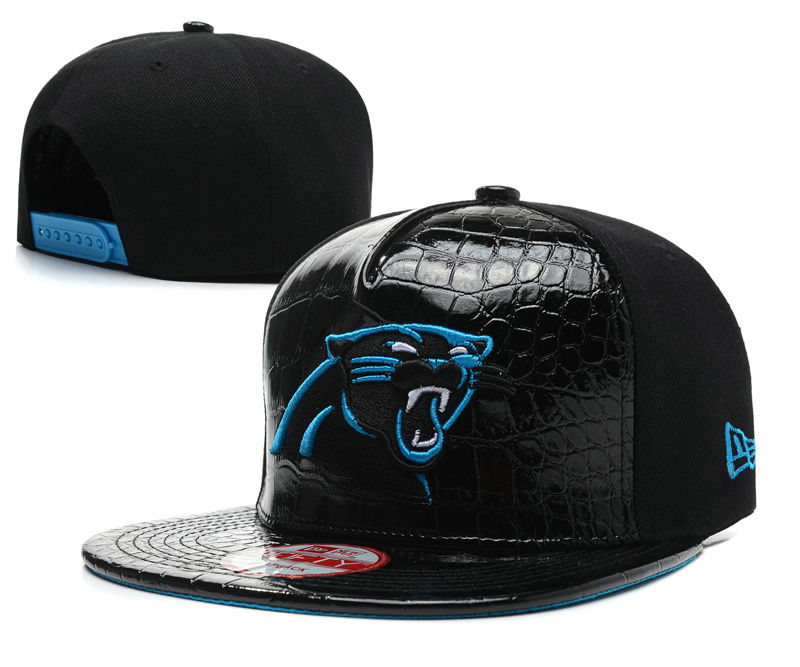 Carolina Panthers Black Snapback Hat SD