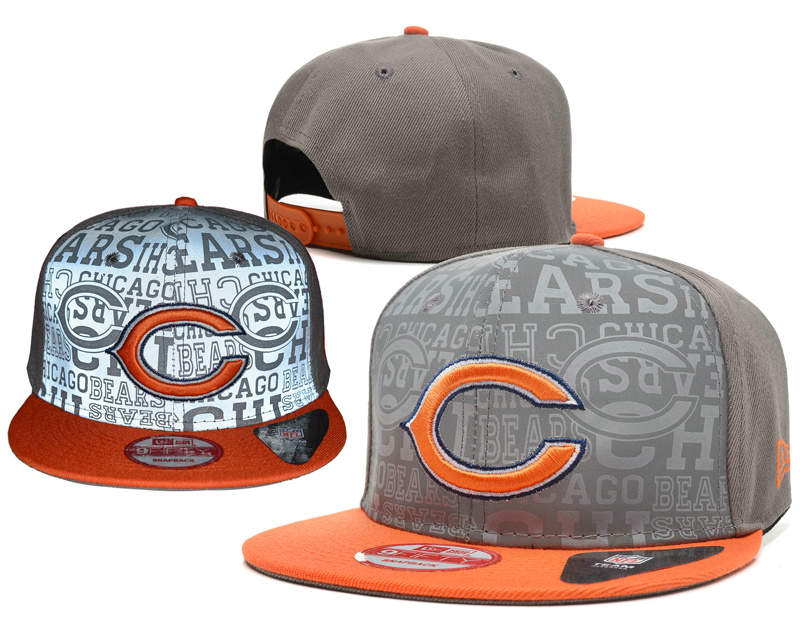Chicago Bears Reflective Snapback Hat SD 0721