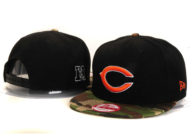 Chicago Bears Black Snapback Hat YS