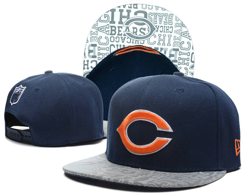 Chicago Bears 2014 Draft Reflective Blue Snapback Hat SD 0613