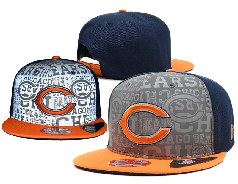 Chicago Bears 2014 Draft Reflective Snapback Hat SD 0613
