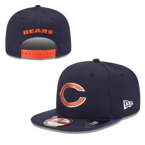 Chicago Bears Snapback Navy Hat 1 XDF 0620