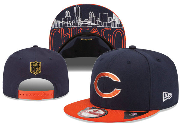 Chicago Bears Snapback Navy Hat XDF 0620