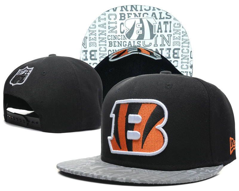 Cincinnati Bengals 2014 Draft Reflective Black Snapback Hat SD 0613