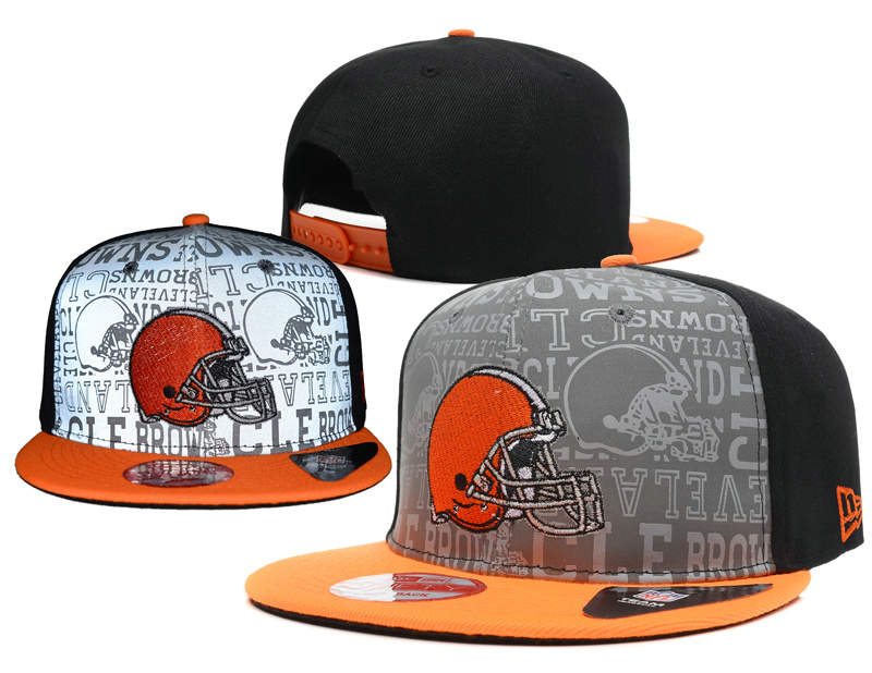 Cleveland Browns 2014 Draft Reflective Snapback Hat SD 0613