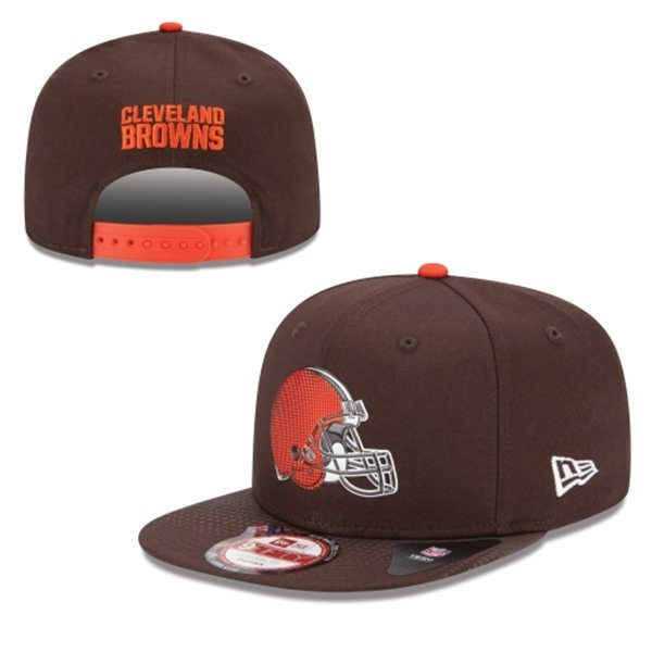 Cleveland Browns Snapback Brown Hat 1 XDF 0620