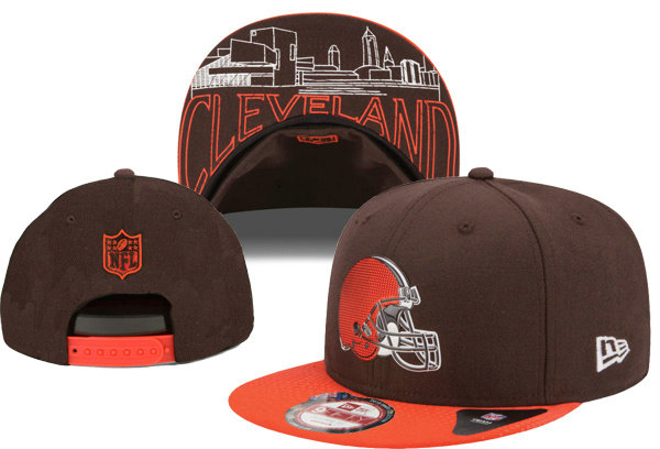 Cleveland Browns Snapback Brown Hat XDF 0620