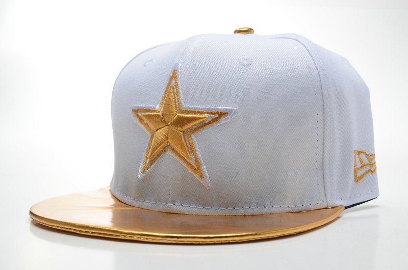 Dallas Cowboys White Snapback Hat SD